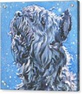 Bouvier Des Flandres Snow Acrylic Print by Lee Ann Shepard