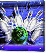 Bowling Sign - Strike Acrylic Print by Steve Ohlsen