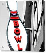 Bowling Acrylic Print by Steven  Michael