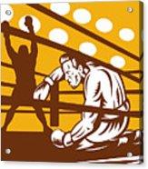 Boxer Down On His Hunches Acrylic Print by Aloysius Patrimonio