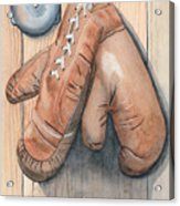 Boxing Gloves Acrylic Print by Ken Powers