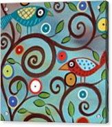 Branch Birds Acrylic Print by Karla Gerard