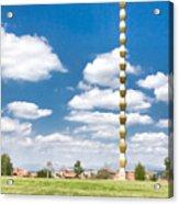 Brancusi's Infinite Column Acrylic Print by Gabriela Insuratelu