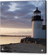 Brant Point Light Number 1 Nantucket Acrylic Print by Henry Krauzyk