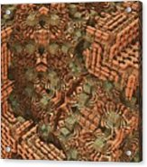 Bricks And Mortar Acrylic Print by Lyle Hatch