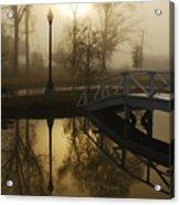Bridge Over Still Waters Acrylic Print by Wayne Archer