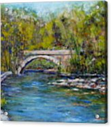 Bridge Over Wissahickon Creek Acrylic Print by Joyce A Guariglia