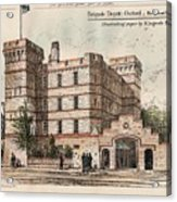 Brigade Depot Oxford England 1880 Acrylic Print by Ingrefs Bell