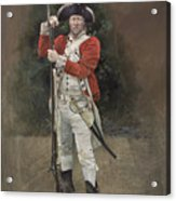 British Infantryman C.1777 Acrylic Print by Chris Collingwood