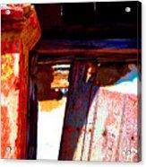 Broken Door By Michael Fitzpatrick Acrylic Print by Mexicolors Art Photography