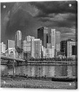 Brooding Above The Burgh Acrylic Print by Jennifer Grover
