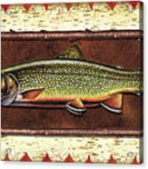 Brook Trout Lodge Acrylic Print by JQ Licensing