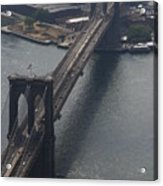 Brooklyn Bridge From The Beekman Acrylic Print by Christopher Kirby