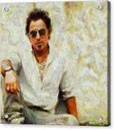 Bruce Springsteen Acrylic Print by Elizabeth Coats