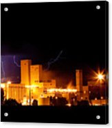 Budwesier Brewery Lightning Thunderstorm Image 3918 Acrylic Print by James BO  Insogna