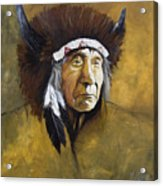 Buffalo Shaman Acrylic Print by J W Baker