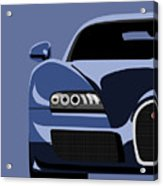 Bugatti Veyron Acrylic Print by Michael Tompsett