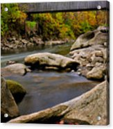 Bulls Bridge - Autumn Scene Acrylic Print by Thomas Schoeller