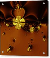 Bumble Beez Over Chocolate Lake . Square . S19 Acrylic Print by Wingsdomain Art and Photography