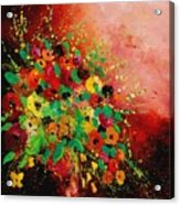 Bunch Of Flowers 0507 Acrylic Print by Pol Ledent