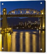 Burrard Street Bridge Vancouver Acrylic Print by Naman Imagery