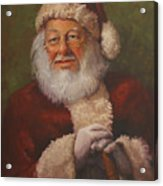 Burts Santa Acrylic Print by Vicky Gooch