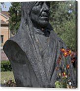 Bust Of Mother Teresa Acrylic Print by Fabrizio Ruggeri