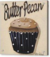 Butter Pecan Cupcake Acrylic Print by Catherine Holman