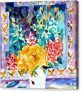 Butterfly Bouquet Acrylic Print by Mindy Newman
