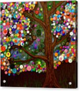 Button Tree 0007 Acrylic Print by Monica Furlow