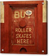 Buy Skates Here Acrylic Print by Brenda Conrad