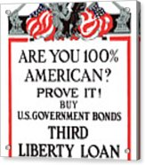 Buy U.s. Government Bonds Acrylic Print by War Is Hell Store