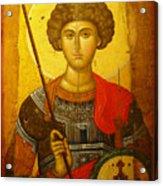 Byzantine Knight Acrylic Print by Ellen Henneke