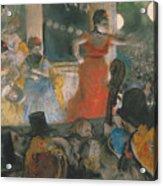 Cafe Concert At Les Ambassadeurs Acrylic Print by Edgar Degas