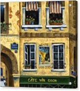 Cafe Van Gogh Paris Acrylic Print by Marilyn Dunlap