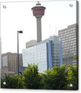 Calgary Tower View 2 Acrylic Print by Donna Munro