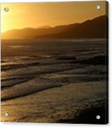 California Coast Sunset Acrylic Print by Balanced Art