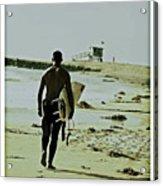 California Surfer Acrylic Print by Scott Pellegrin