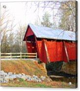 Campbell's Covered Bridge Acrylic Print by Diane Toro