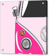 Camper Pink Acrylic Print by Michael Tompsett