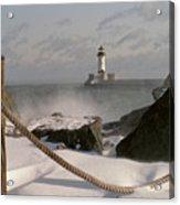Canal Park Lighthouse Acrylic Print by Heidi Hermes