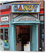 Candy Store Cartoon Acrylic Print by Sophie Vigneault