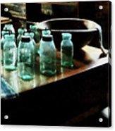 Canning Jars Acrylic Print by Susan Savad