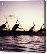 Canoe Race Acrylic Print by Bob Abraham - Printscapes
