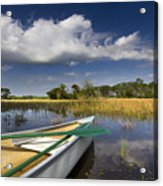 Canoeing In The Everglades Acrylic Print by Debra and Dave Vanderlaan