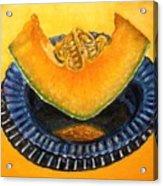 Cantaloupe Oil Painting Acrylic Print by Natalja Picugina