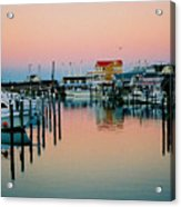 Cape May After Glow Acrylic Print by Steve Karol