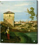 Capriccio With Motifs From Padua Acrylic Print by Canaletto
