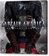 Captain America The First Avenger  Acrylic Print by Movie Poster Prints