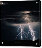 Carefree Lightning Acrylic Print by Cathy Franklin